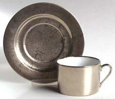 Deshoulieres,Philippe Carat PlatineFlat Cup & Saucer Set