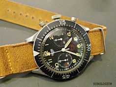 Heuer Bund flyback chronograph. 1960s. This ticks all the right boxes...