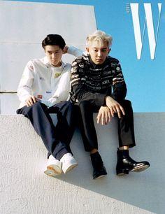 Chanyeol, Sehun - 190620 W Korea magazine, July 2019 issue Exo Ot12, Kaisoo, Chanbaek, Kyungsoo, Exo K, Park Chanyeol, K Pop, W Korea, Exo Official