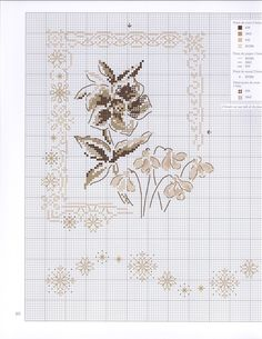 Cross Stitch Gallery, Cross Stitch Designs, Cross Stitch Patterns, Cross Stitching, Cross Stitch Embroidery, Hand Embroidery, Just Cross Stitch, Cross Stitch Flowers, Blackwork Patterns