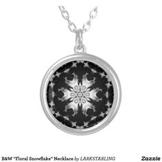 "B&W ""Floral Snowflake"" Necklace  $25"