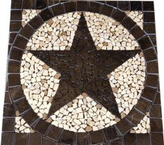 30 Sq Texas Star Mosaic Marble Medallion Tile Floor Wall Backsplash Pattern Art Ebay La Casa Pinterest Flooring And Mosaics