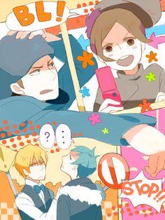 Tags: Anime, Durarara!!, Orihara Izaya, Heiwajima Shizuo, Kadota Kyouhei