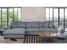 Canapé d'angle gauche fixe 5 places