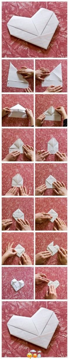 Origami envelope tutorial letters 15 Ideas for 2019 Origami And Kirigami, Origami Butterfly, Paper Crafts Origami, Diy Origami, Origami Flowers, Origami Tutorial, Oragami, Heart Origami, Envelope Tutorial