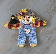 Crochet Applique Patterns Free, Halloween Crochet Patterns, Baby Knitting Patterns, Crochet Appliques, Crochet Ripple, Crochet Fall, Crochet Motif, Crochet Crafts, Crochet Projects