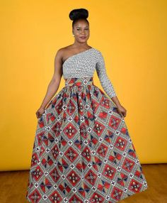 Clearance Maro African print Maxi Skirt African Clothing by RAHYMA African Fashion Designers, African Inspired Fashion, African Dresses For Women, African Print Fashion, Africa Fashion, African Wear, African Attire, Ethnic Fashion, African Women