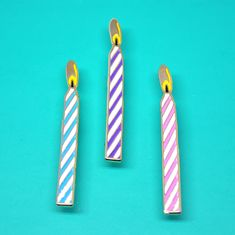 Birthday Candle Enamel Pin by PointsAndPlaces on Etsy