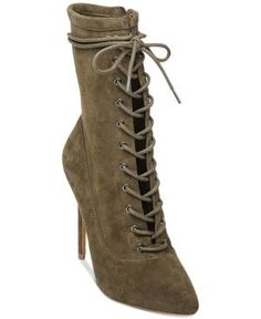 dfd024ee6ba Steve Madden Women s Satisfied Lace-Up Stiletto Booties   Reviews - Boots -  Shoes - Macy s