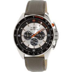 Invicta Men's Rally 15907 Grey Leather Quartz Watch
