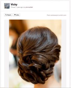 How adorable are these little rosette details? They are the perfect topper for this sideswept do, since they're beautiful and super romantic.