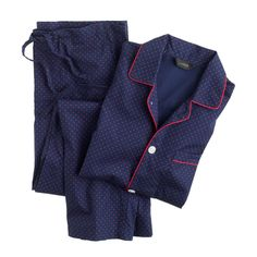 J.Crew men's pajama set in classic navy.