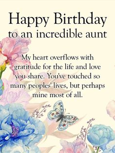 Happy Birthday Card For Aunt The Love Of An Stretches Far And Wide Celebrate Beautiful Life Your Has Lived With This Touching
