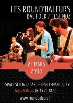 Samedi 22 mars : Bal de la Saint-Patrick avec Les Round'Baleurs, à Sargé-lès-le-mans (72)!