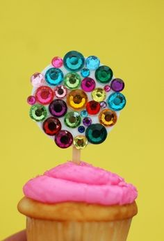 blingy cupcake toppers
