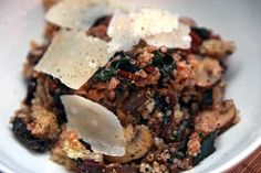 Quinoa with Chard and Mushrooms - Martha Stewart (looks beautiful made with rainbow chard)