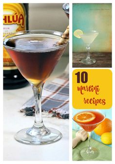 Start the party with one of these 10 Martini Recipes. They are the perfect way to celebrate the holidays or any special occasion. Cocktail Maker, Cocktail Glass, Martini Recipes, Cocktail Recipes, Perfect Martini, Alcoholic Drinks, Beverages, Chocolate Martini, Start The Party