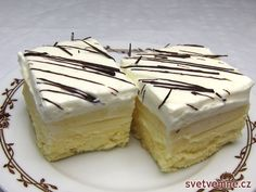An excellent, creamy dessert. The specified 16 dice will not be enough for you :] In my experience, I recommend doubling the amount of ingredients and for safety rather like baking 32 pieces :] Russian Dishes, Russian Recipes, Unique Recipes, Sweet Recipes, Baking Recipes, Cake Recipes, Polish Recipes, Four, Cakes And More