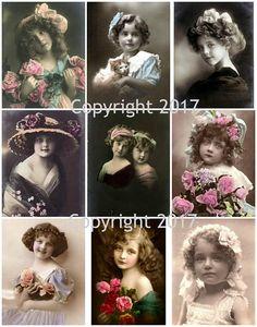 Victorian Children Photo Collage #101 Collage Sheet
