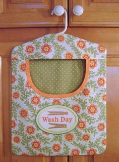 Clothes pin bag - Wash Day