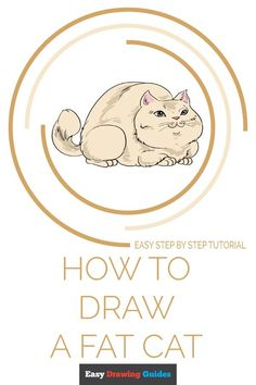 Cat Drawing Tutorial, Drawing Tutorials For Kids, Drawing Tips, Grace Symbol, Fat Cats, Fat Kitty, Blending Colored Pencils, Cat Species, Popular Cartoons