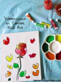 Watercolour on Canvas. Art for Kids