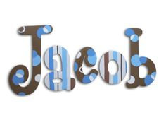 Cute site for hand painted wooden letters!