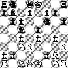 I Love It! This diagram is from a chess game that I won while I was stationed in Giessen, Hessen, Germany. I played the White side of Grob Attack against a provisionally rated 1900 player. Click on the image to see this chess game.