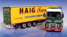 Universal Hobbies 1:50 Renault Magnum Diecast Model Lorry - 5641 This Renault Magnum Curtainsider (David Haig) Diecast Model Lorry is Green and Yellow and features working wheels and also opening trailer doors. It is made by Universal Hobbies and is 1:50 scale (approx. 35cm / 13.8in long).  http://commercials.minimodelshop.co.uk/diecast-model-commercial/renault-magnum-curtainsider-david-haig-diecast-model-universal-hobbies-5641&src=facebook Comes with trailer keychain. #UniversalHobbies…