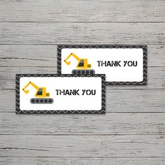 Construction Party Thank You Tag Construction Party, Cupcake Wrappers, Party In A Box, Thank You Tags, Party Printables, Invitations, Save The Date Invitations, Shower Invitation, Invitation