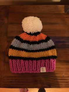 The Lucky Liquorice Beanie is adult size and you choose your colours. Made with 100% pure chunky wool