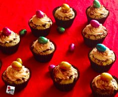 Easter is coming and my black bottom cupcakes ate cheesecake
