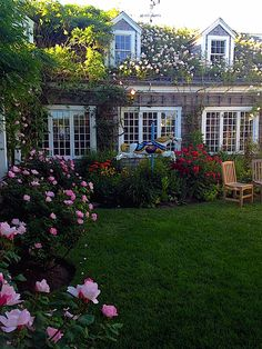 Nantucket  Garden entrance to Chanticleer Restaurant