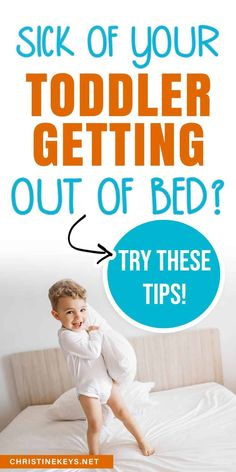 Sick of your toddler getting out of bed? Try these tips. These mom hacks will help teach your toddler to stay in their bed and sleep well through the night and for naps.