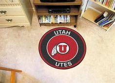 Round University of Utah Utes Floor Rug