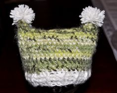 newborn hat with basketweave band $13
