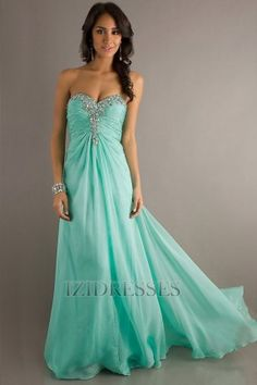 Ball Gown Strapless Sweetheart Chiffon Prom Dress - IZIDRESSES.com at IZIDRESSES.com