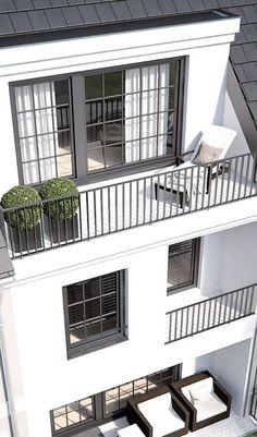 Forstenried Ammerlandstraße – LINK GmbH – The Münc – garden design ideas - Modern Architecture Windows, Concept Architecture, Residential Architecture, House Architecture Styles, Pavilion Architecture, Japanese Architecture, Sustainable Architecture, Contemporary Architecture, Balcony Railing Design