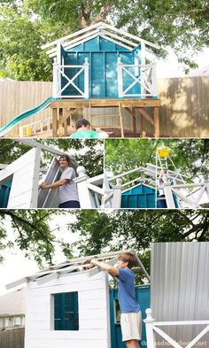building a handmade hideaway : the roof {how to build a treehouse} | the handmade home