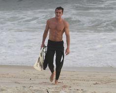 Brazilian actor Klebber Toledo at Barra da Tijuc beach in Rio de Janeiro, on Nov. 28, 2012