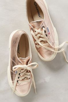 Superga Metallic Sneakers #AnthroFave