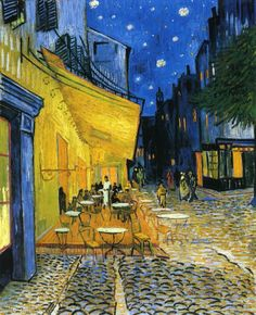 Cafe Terrace on the Place du Forum aka Cafe Terrace at Night // Vincent van Gogh Kroller-Muller Museum (Netherlands)
