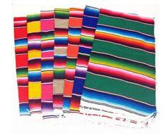 "Del Mex (TM) Mexican Serape Blanket Table Runner (72"" By 12"")"