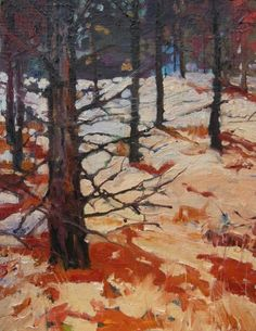 Wenatchee Pine Forest oil, landscape painting by Robin Weiss -- Robin Weiss
