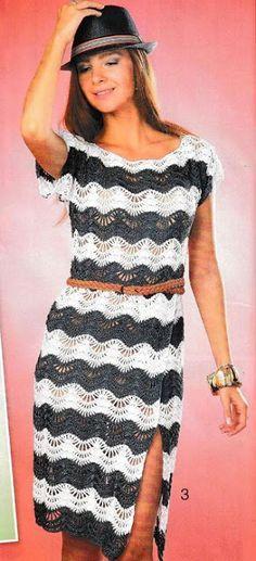 Fabulous Crochet a Little Black Crochet Dress Ideas. Georgeous Crochet a Little Black Crochet Dress Ideas. Clothing Patterns, Dress Patterns, Crochet Patterns, Black Crochet Dress, Knit Dress, Thread Crochet, Crochet Lace, Crochet For Boys, Crochet Slippers