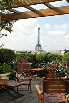 A romantic rooftop terrace with perfect Eiffel Tower views. Hotel Raphael (Paris, France) - Jetsetter