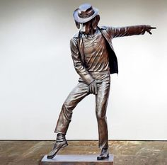 When Gillie and Marc decided to make a sculpture of the King of Pop it was clear to them that he should have the head of a dog right from the beginning. They believe the qualities of man's best friend might make Michael more human, by taking away a layer of the mystery that always surrounded him. The dog's qualities of loyalty and trust, as well as their sociability, might be able to change the sense of reclusiveness and isolation that Michael Jackson always struggled with.