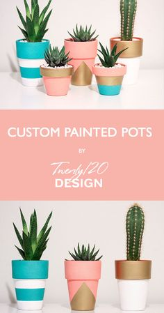 Tall Hand Painted Terracotta Pots Succulent Cactus Cacti Planter Pot Plants Paint Handmade Made to Order Custom - Plant Pot - Ideas of Plant Pot - Get the perfect custom pot made for your favourite succulent or cactus by Twenty 20 Design. Painted Plant Pots, Painted Flower Pots, Boho Decor Diy, Pots D'argile, Decorated Flower Pots, Pottery Painting Designs, Flower Pot Design, Cement Crafts, Diy Planters