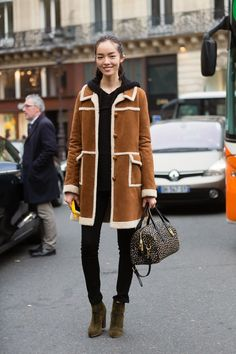 Model Off Duty Fall 2015 Paris Fashion Week - Fei Fei Sun