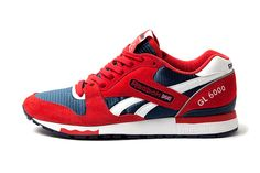 Reebox GL6000 Sporting a suede and mesh upper with reflective 3M heel tab an sitting atop an EVA midsole,